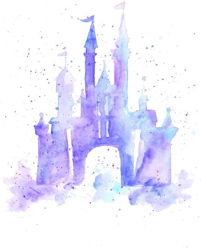 Watercolor Disney Castle at PaintingValley.com.