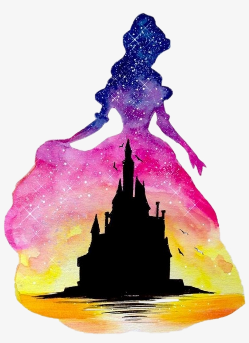 Disney Castle Watercolour Belle Beauty Beautyandthebeas.