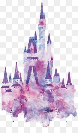 Cinderella Castle Art PNG.