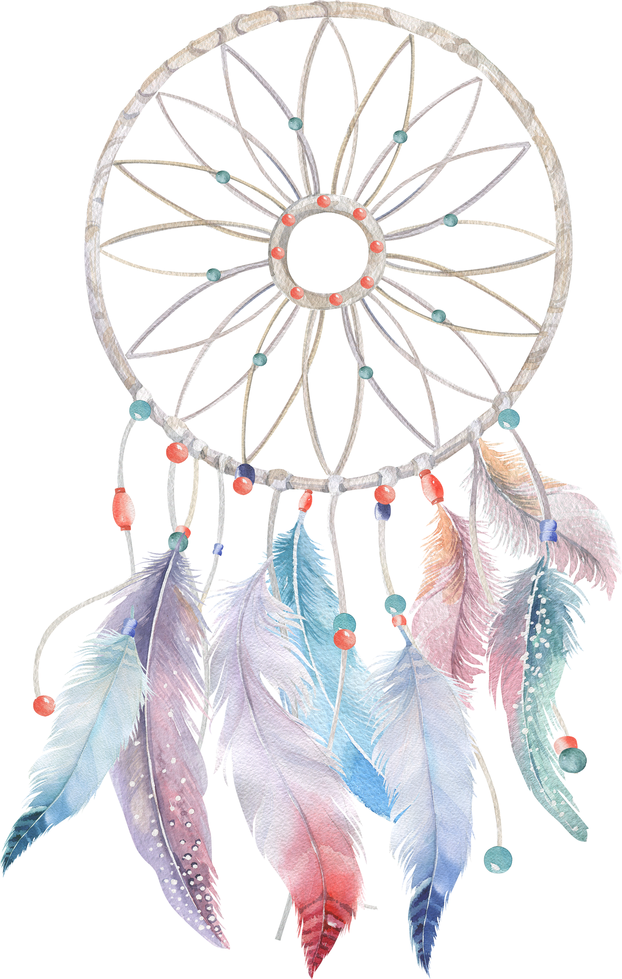 Download Watercolor Feather Boho.