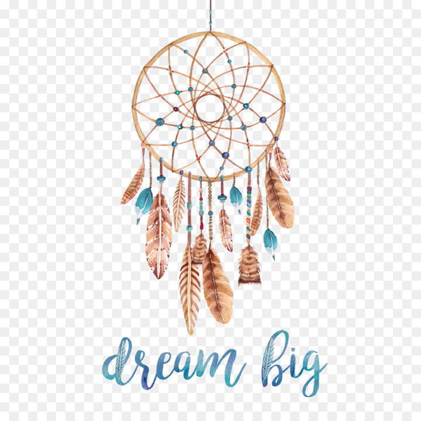 Dreamcatcher Poster Watercolor painting Printmaking Printing.