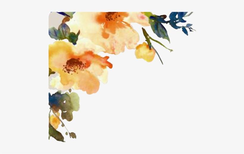 Free Transparent PNG Watercolor Flower Cornerdesign Flor.