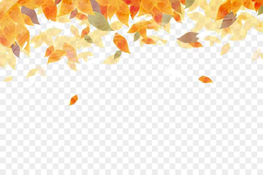 Autumn Leaves Watercolor.