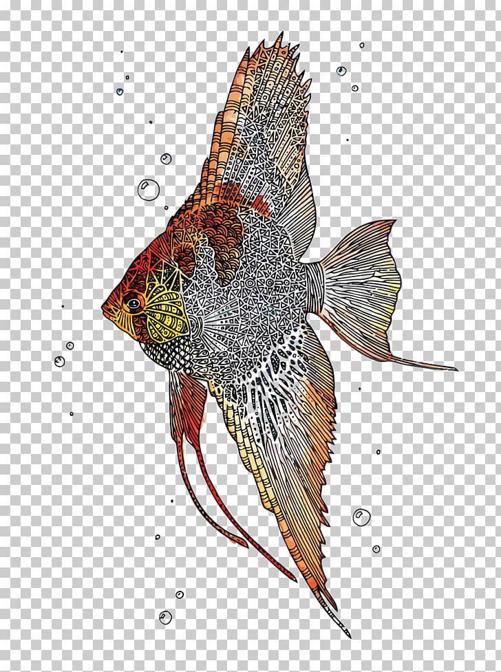 Angelfish Paper Tropical fish Watercolor painting, Tropical.