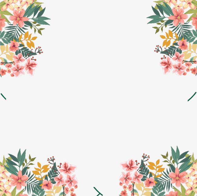 Watercolor Floral Border Decoration PNG, Clipart, Abstract.
