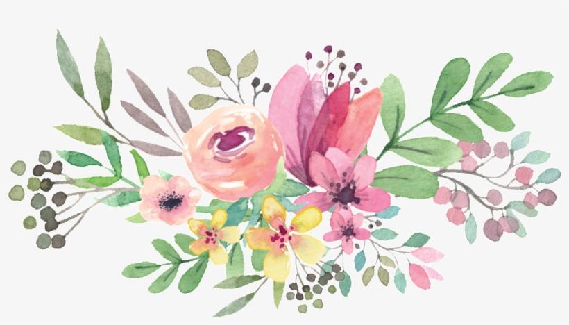 Watercolor Floral Bouquet Png.