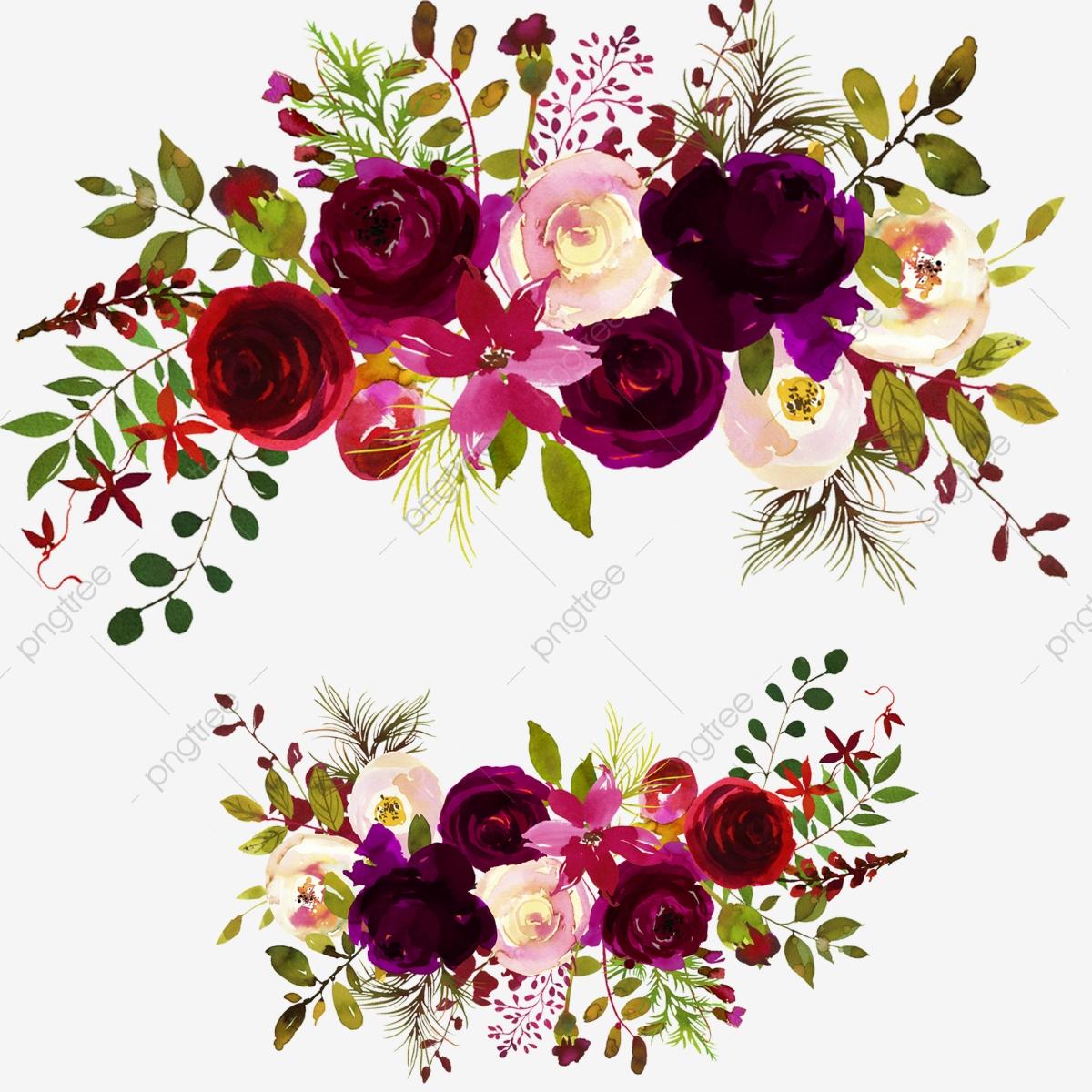 Watercolor Flowers Bouquets, Watercolor Flower, Bouquets.