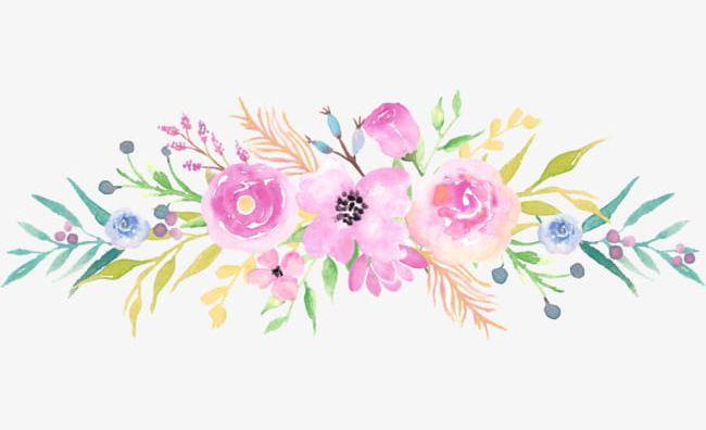 Bouquet Watercolor Flowers PNG, Clipart, Bouquet Clipart.