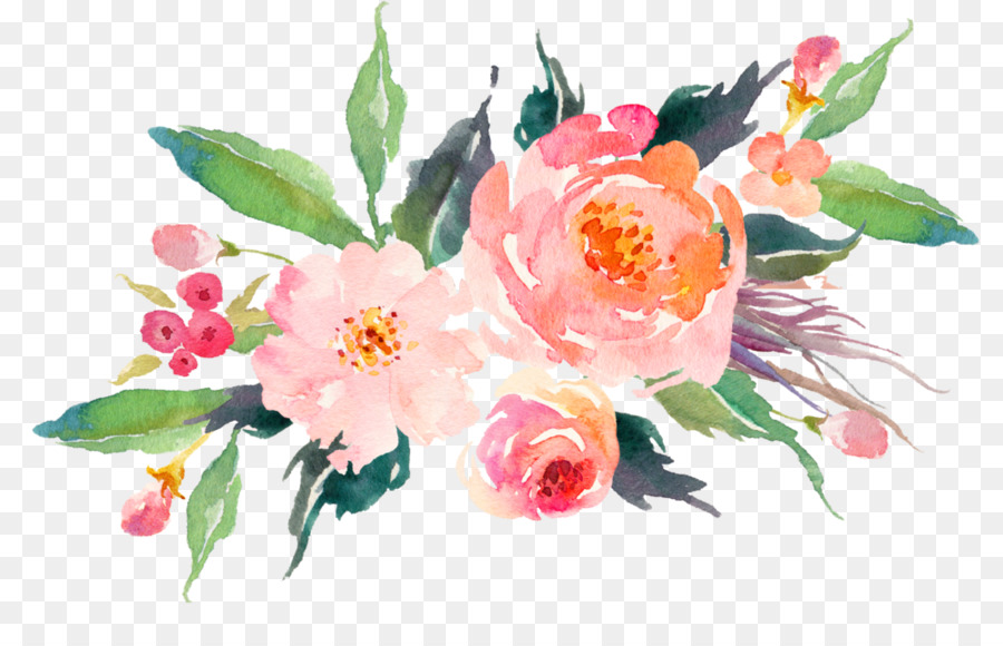 Wedding Watercolor Floral png download.