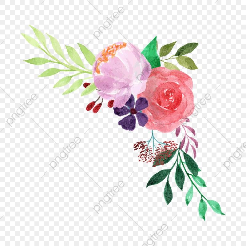 Watercolor Floral Bouquet, Plant, Watercolor, Flower PNG.