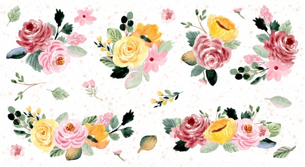 Watercolor Flowers Vectors, Photos and PSD files.