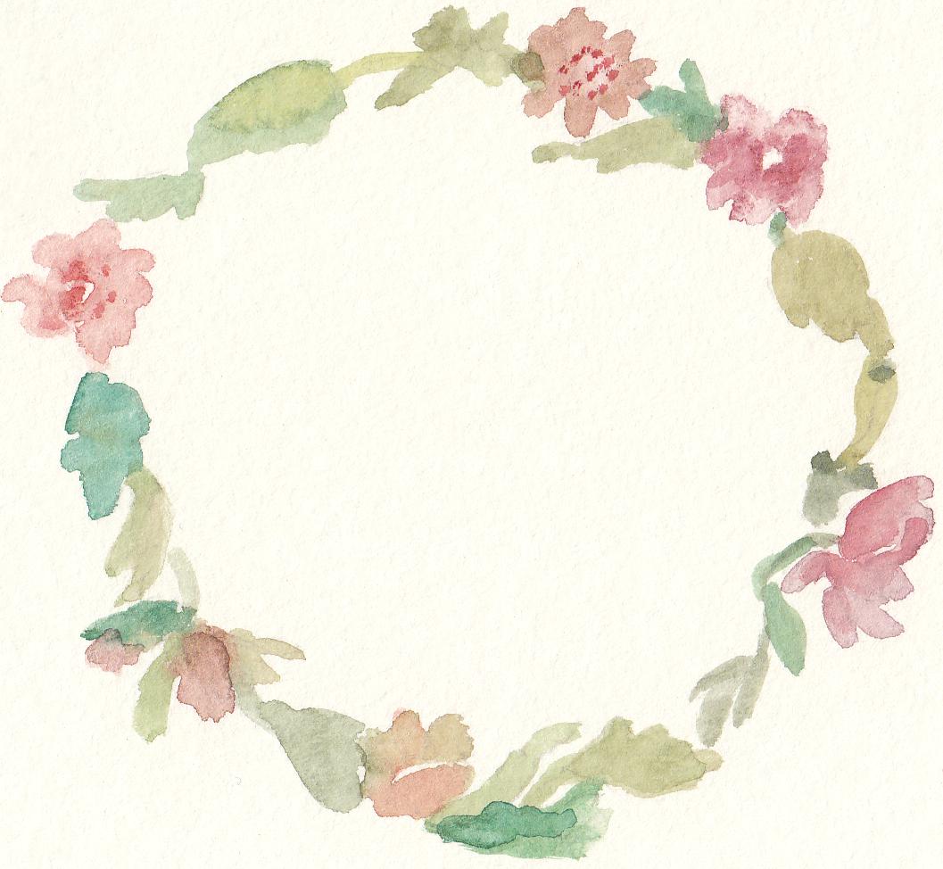Free Watercolor Floral Wreath Clip Art.