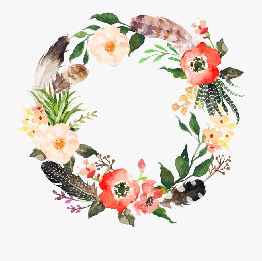 Watercolor Flower Wreath Png , Transparent Cartoon, Free.