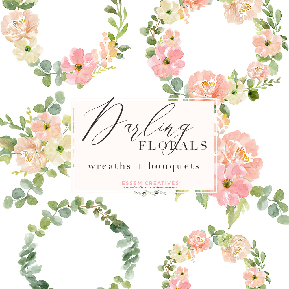 Watercolor Wreath PNG Clipart, Watercolor Flowers Bouquet Background,  Floral Wreath PNG.
