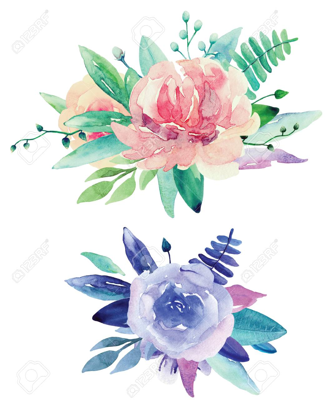 Watercolor Flower Clipart & Free Watercolor Flower Clipart.