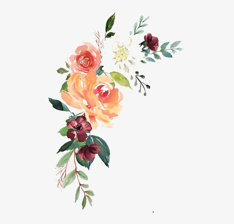 Watercolor Floral Composition Free Download.