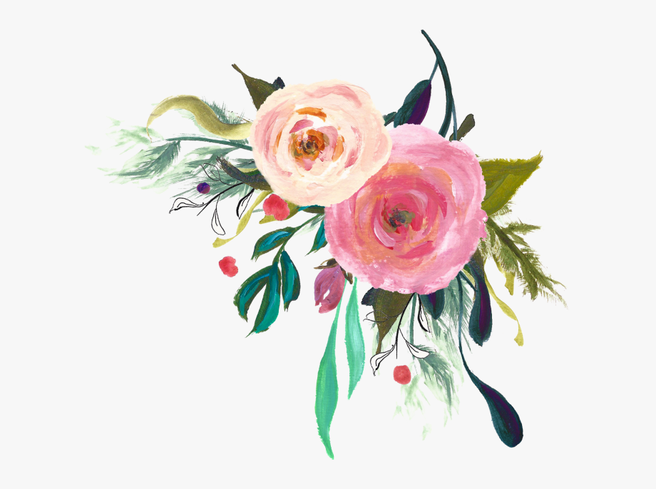 Watercolor Flowers Png Free Download.