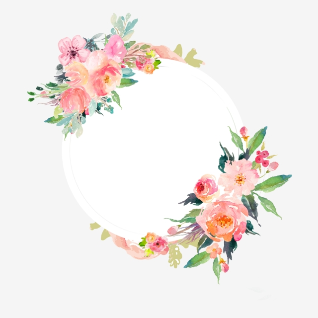 Watercolor Flower Frame, Flowers, Orange, Watercolor PNG and.