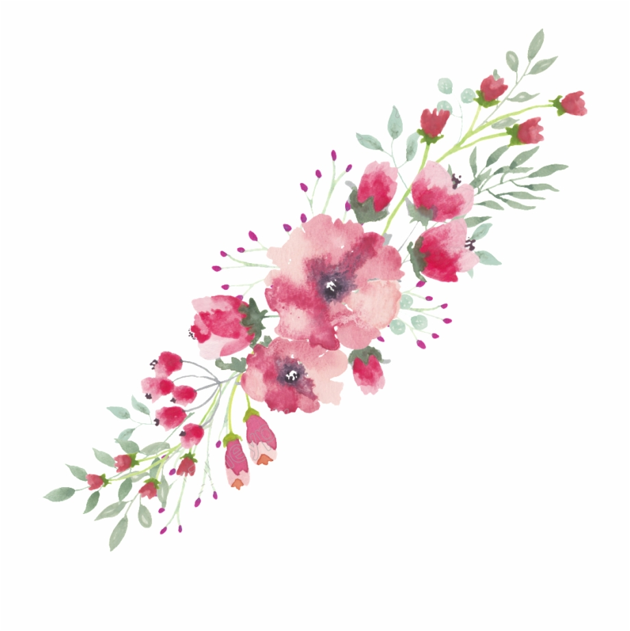 Png Flower Lace Free Watercolor Flowers Border.