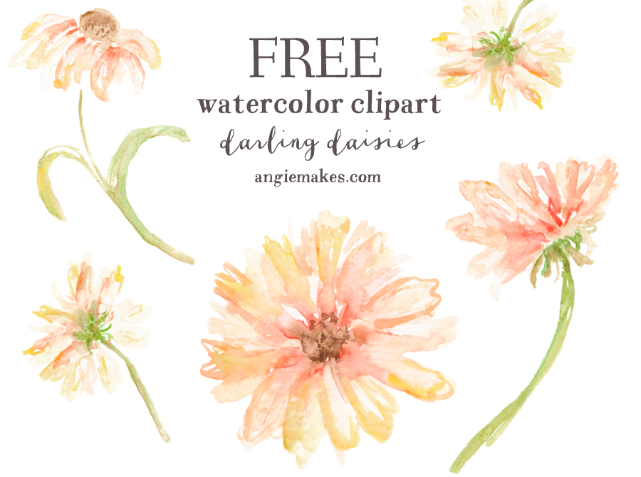 Free Girly Graphics and Watercolor Clip Art.