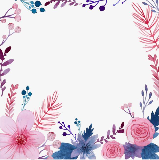 Creative Watercolor Flowers, Watercolor Flowers Vector, Art.