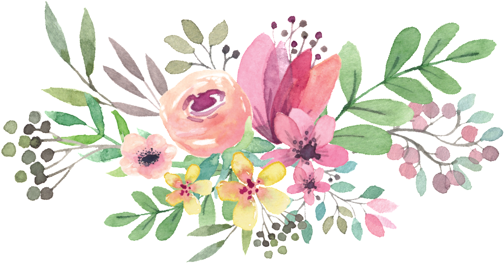 Free Watercolor Flowers Clipart.