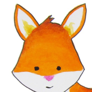 Watercolor fox clipart, foxes clipart, Red fox clip art.