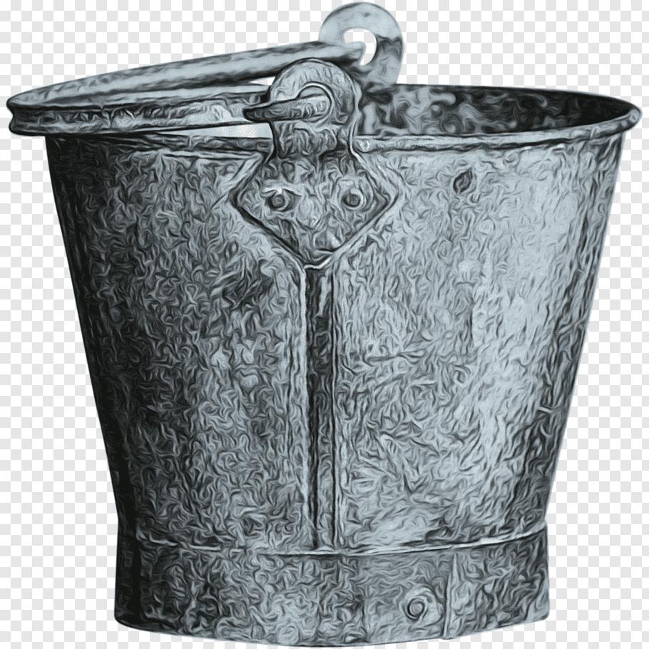 Metal, Bucket, Galvanization, Mop Bucket Cart, Otc 12 Large.