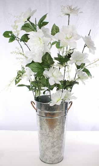 Galvanized French Flower Bucket.