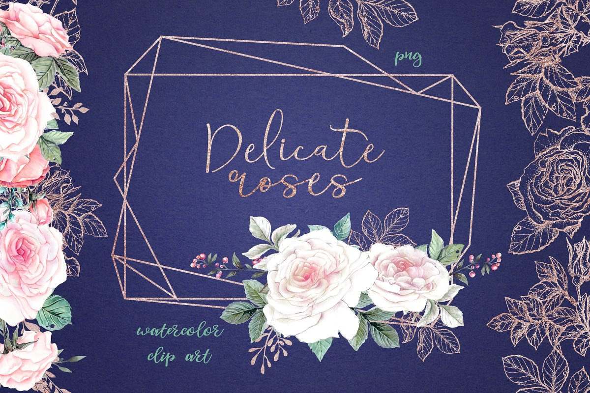 Delicate Roses.