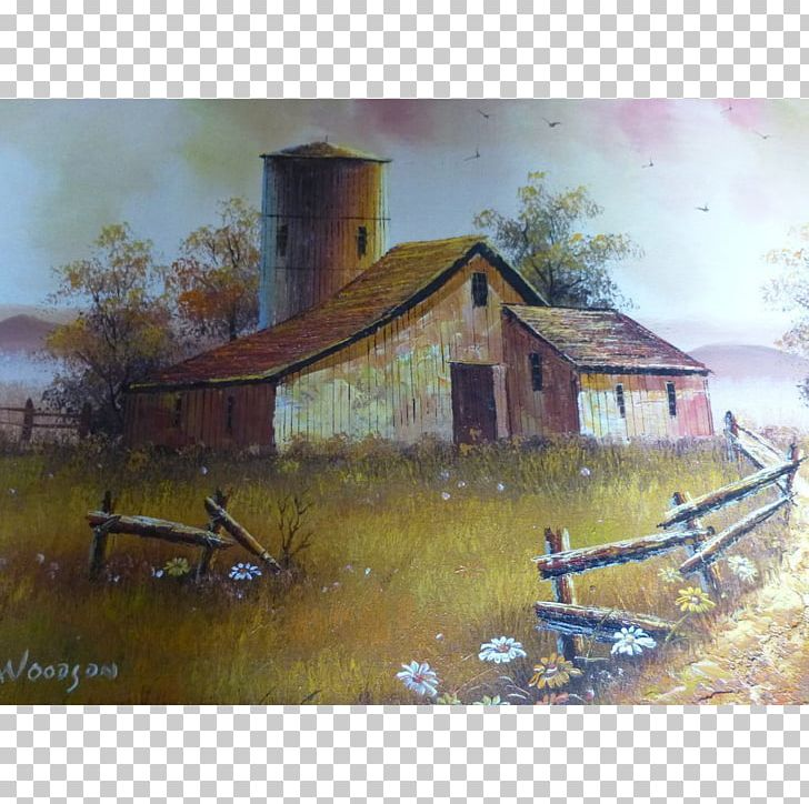 Watercolor Painting House Farm PNG, Clipart, Barn, Cottage.