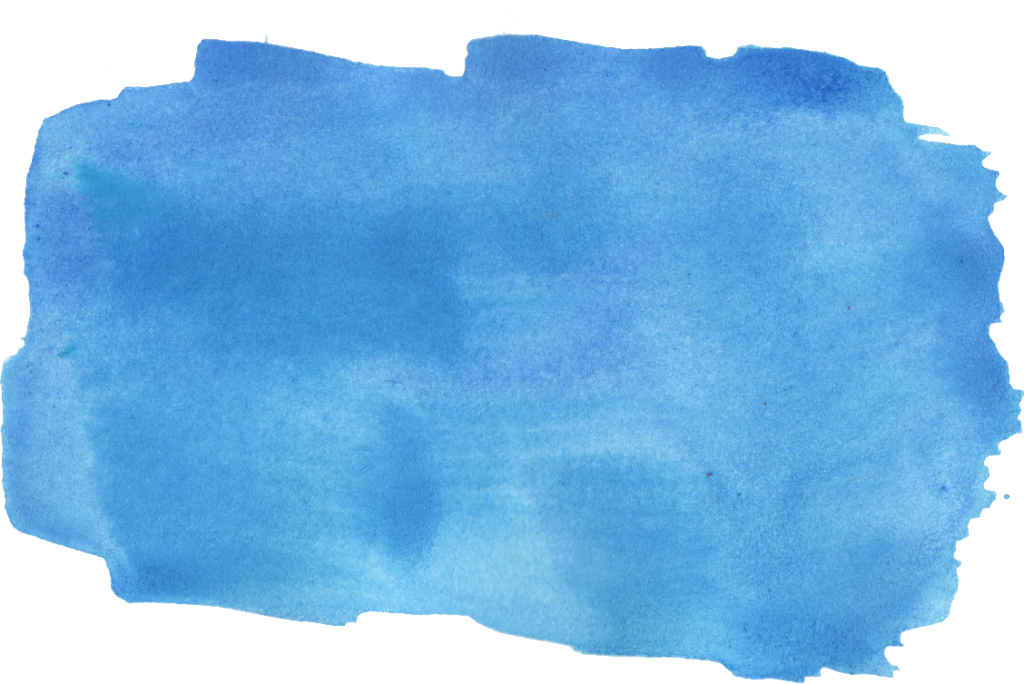 44 Blue Watercolor Brush Stroke (PNG Transparent) Vol. 3.