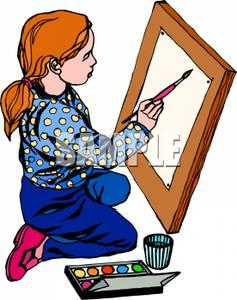 Girl clipart watercolor.