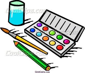 Color paint set clipart.