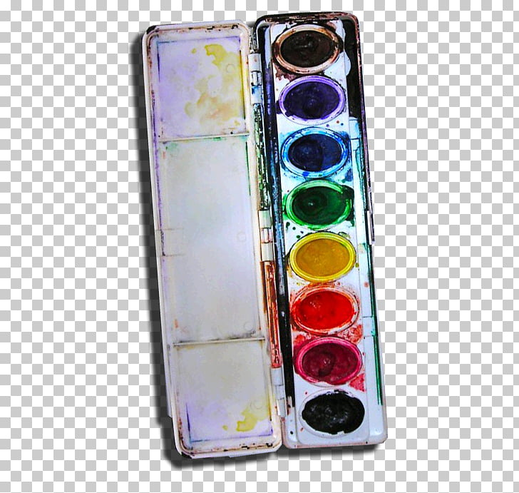 Palette Watercolor painting Paper Crayon Paintbrush.
