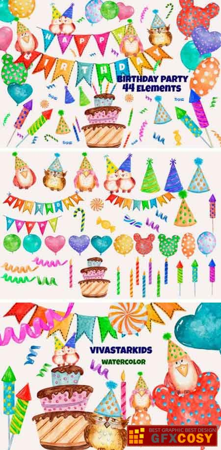 Watercolor Party Clipart Cute Owls » Free Download Photoshop.