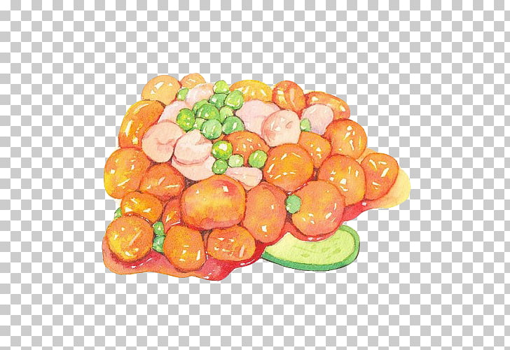 Watercolor painting Vegetable Illustration, Hand painting.