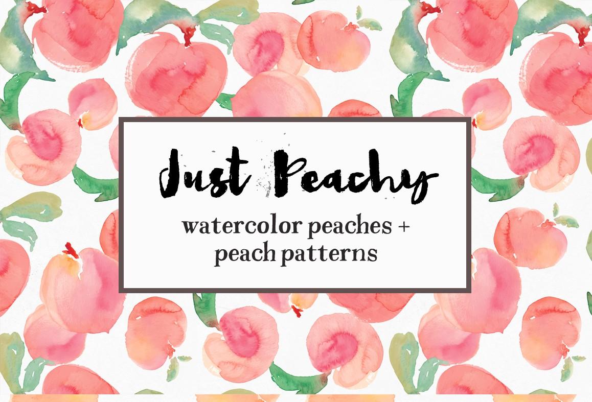 Watercolor Peaches.