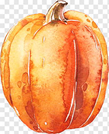 Halloween Pumpkin Art, Watercolor, Paint, Wet Ink.