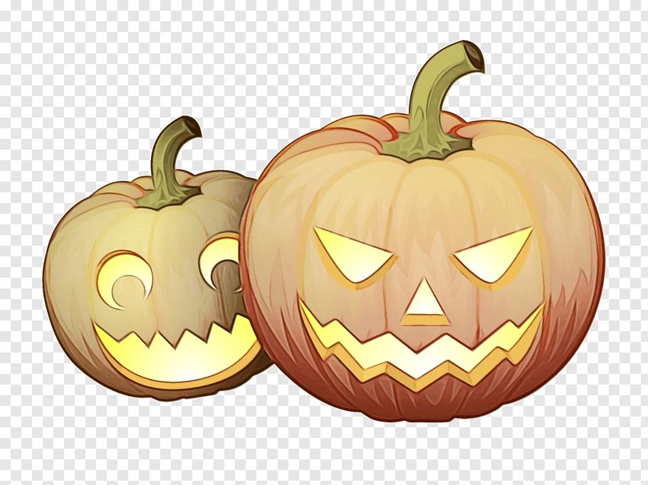 Halloween Orange, Watercolor, Paint, Wet Ink, Jackolantern.