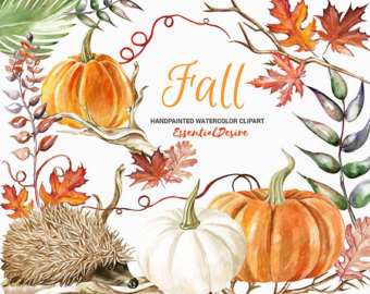 Pumpkin clipart, Autumn clipart, Thanksgiving clipart, halloween.