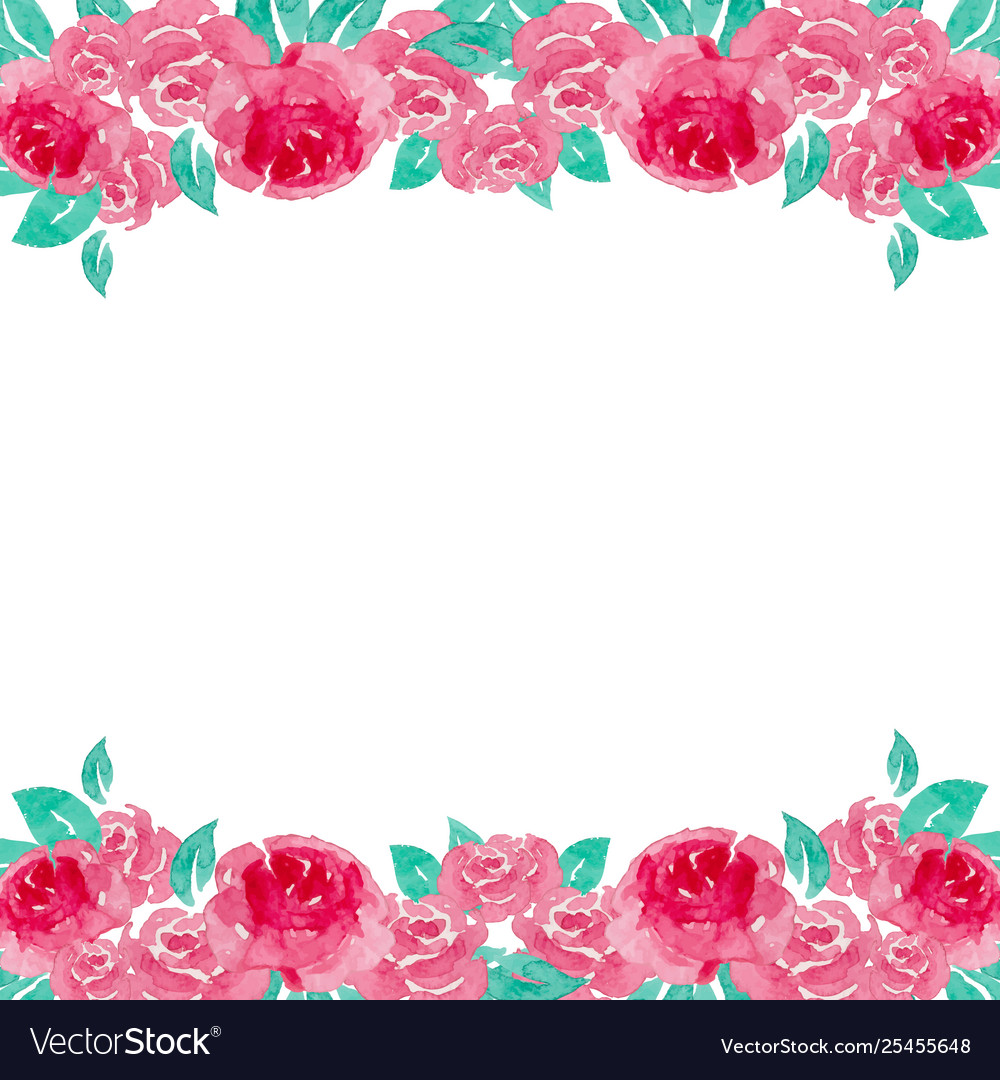 Watercolor rose background.