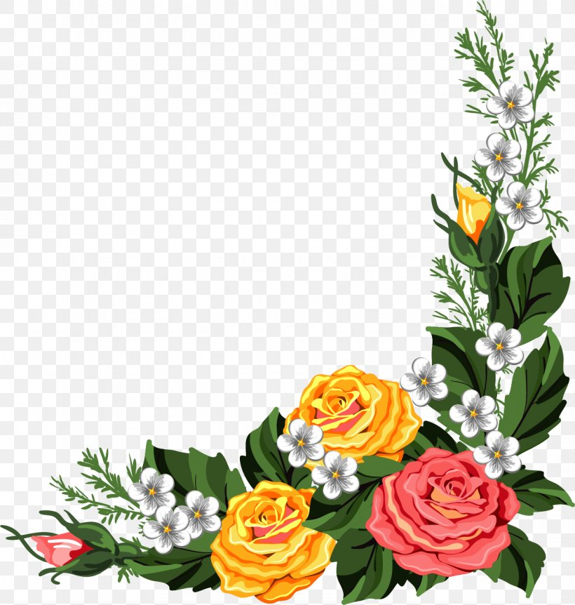 Borders And Frames Picture Frames Flower Clip Art, PNG.