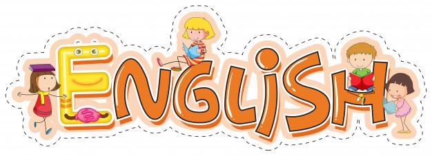 Word design for school subject english Vector.