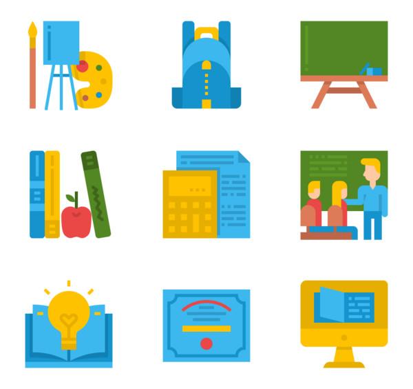 1,021 school icon packs.