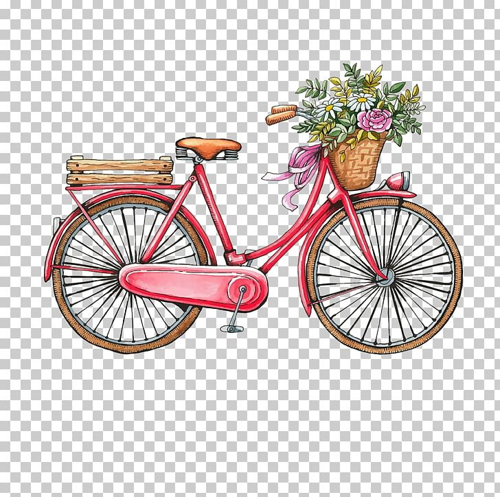 Bicycle Vintage Clothing Watercolor Painting PNG, Clipart.