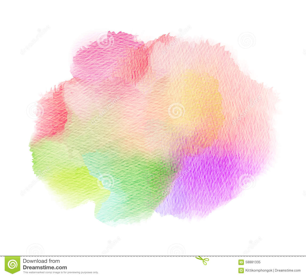 Abstract Watercolor Splash. Watercolor Drop. Stock Illustration.