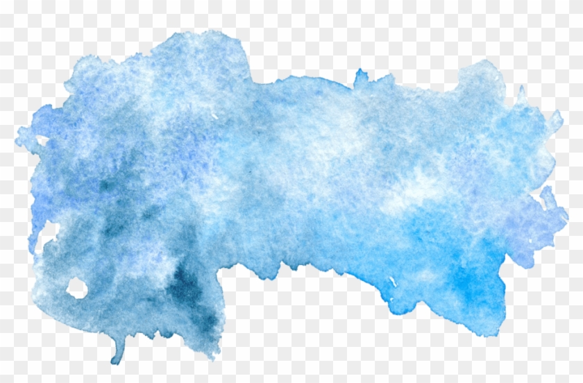 Blue Watercolor Stain Png, Transparent Png (#185106), Free.