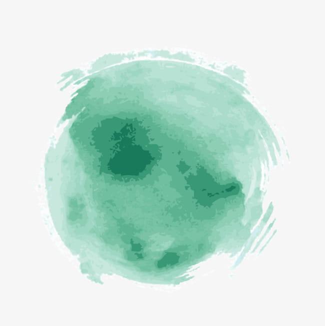 Light green watercolor brush strokes PNG clipart.