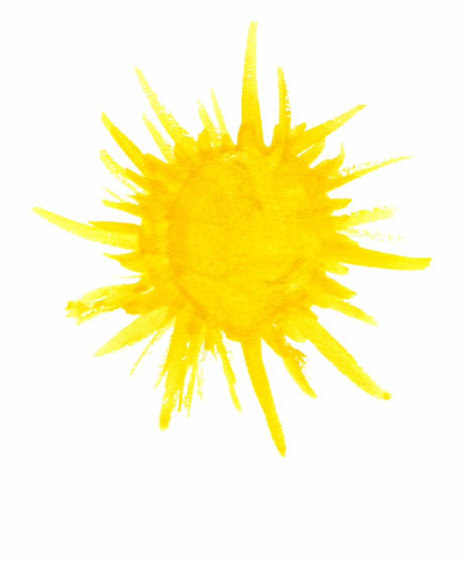 Free Download Watercolor Sun Png.